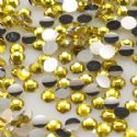 Jewel Embellishments, Resin, Yellow, Faceted Discs, 3mm x 3mm x 1mm, 300  pieces, [ZSS031]